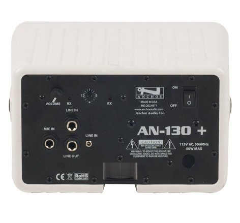 Anchor AN130BP+WB8000/EMT4F Compact Portable AC Powered PA System with Wireless Receiver, Bodypack Transmitter and UltraLite Headset Microphone AN130BP+WB8000/EMT4F