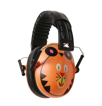 Califone International HS-TI Hush Buddy Hearing Protection for Kids with Tiger Motif HS-TI