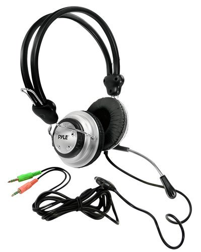 Pyle Pro PHPMC2  PC Multimedia Stereo Headset & Microphone PHPMC2