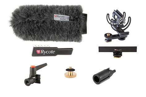 Rycote 116012 Classic-Softie All-In-One Suspension and Windshield Kit for Shotgun Microphones 116012-RYCOTE
