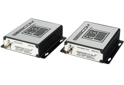 Sescom SES-FA1 2-Channel Unbalanced Line Level Audio Over Fiber Extender Kit SES-FA1