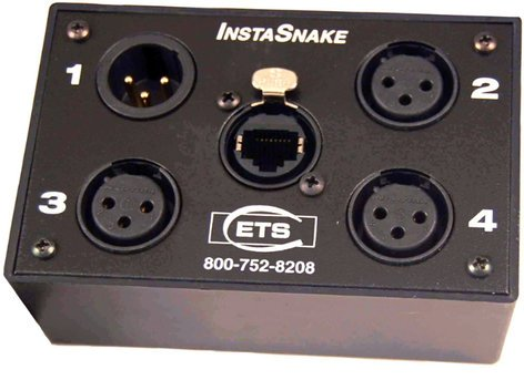 ETS PA203P InstaSnake Passive Network Audio Snake with (3) Sends and (1) Pigtail Return ETS-PA203P