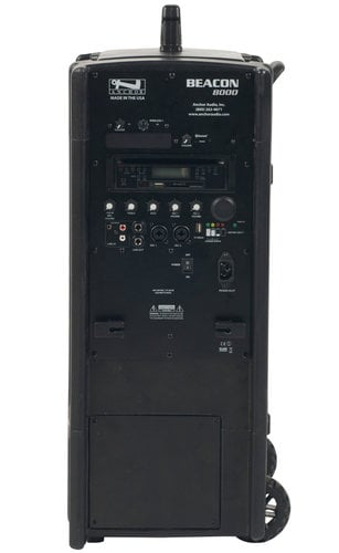 Anchor BEA-8000CU1 Beacon 8000 Portable Line Array System with (1) UHF Wireless Reciever, Onboard CD/MP3 Combo Player and Bluetooth Connectivity BEA-8000CU1