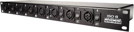 Whirlwind ISO-8 Line Level Isolator, Rack Mount 8ch XLR ISO8
