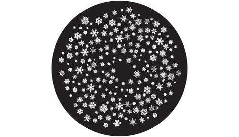 """Rosco Laboratories 81249  """"Snowflakes 4 Small"""" Glass Gobo 81249"""