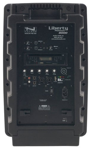 Anchor LIB-BPDUAL-WH8000 Portable PA System with Bluetooth, CD/MP3 Player, (2) UHF Wireless Receivers, Handheld Transmitter and Choice of 2nd Transmitter/Mic LIB-BPDUAL-WH8000