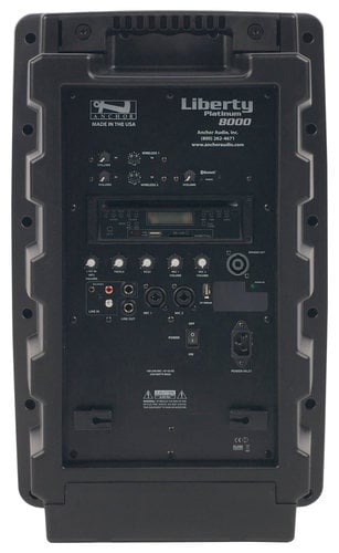 Anchor LIB-BPDUALAC-HBMTA4 Portable AC Powered PA System with (2) UHF Wireless Receivers, Bodypack Transmitter, Headset Microphone and Choice of 2nd Transmitter/Mic LIB-BPDUALAC-HBMTA4