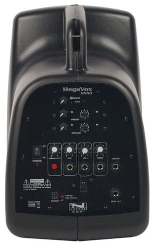 Anchor MEGA-BPDUAL-EMTA4F MegaVox Pro Portable PA Package with Bluetooth Connectivity, (2) UHF Wireless Receivers, Bodypack Transmitter, UltraLite Microphone and Choice of 2nd Transmitter/Mic MEGA-BPDUAL-EMTA4F