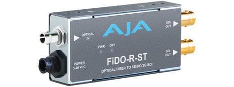 AJA FiDO-R-ST 1 Channel ST Optical Fiber to SD/HD/3G-SDI Mini Converter with Power Supply FIDO-R-ST