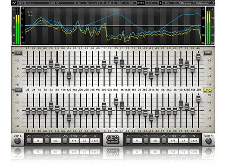 Waves GEQ Graphic Equalizer Mono/Stereo Graphic Equalizer Plugin GEQSG