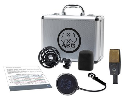AKG C414 XLII Large Diaphragm Multipattern Studio Condenser Microphone with Case and Accessories C414/XLII