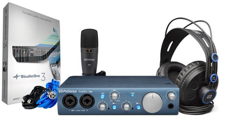 PreSonus AudioBox iTwo Studio Mobile Recording Bundle with AudioBox iTwo, Headphones, Microphone and Recording Software AUDIOBOX-ITWO-STUDIO