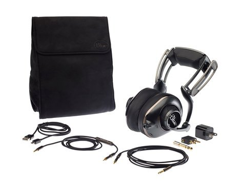 Blue Microphones Mo-Fi Powered High-Fidelity Headphones with Built-In Headphone Amplifier and Rechargeable Battery MO-FI