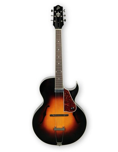 gloss vintage sunburst archtop cutaway acoustic electric guitar with humbucking pickup by the. Black Bedroom Furniture Sets. Home Design Ideas