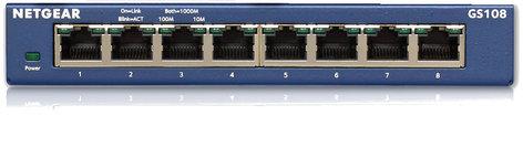 Netgear GS108-400NAS Desktop Switch,8-Port Gigabit GS108-400NAS