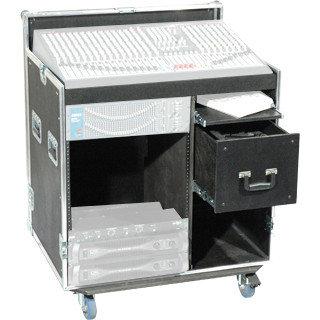 Grundorf T8-COMBO-D12CB 12RU Dual Combo Rack Case T8-COMBO-D12CB