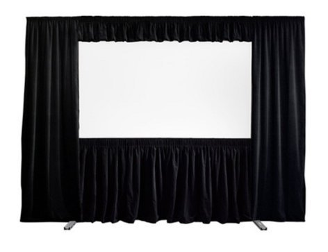 "Draper Shade and Screen 387002  72"" x 96"" NTSC FocalPoint Dress Kit with Case - Velour Fabric 387002"