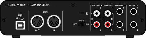 Behringer UMC204HD 2x4 USB Audio/MIDI Interface UMC204HD
