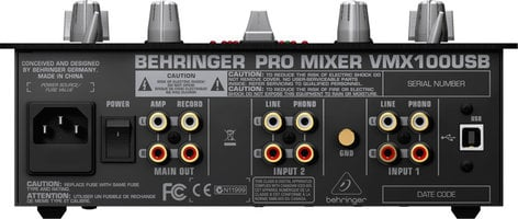 Behringer VMX100USB 2-Channel DJ Mixer with BPM Counter VMX100USB