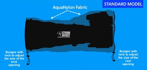 Vortex Media SJ-S-Y Small Standard Model Storm Jacket Cover in Yellow SJ-S-Y