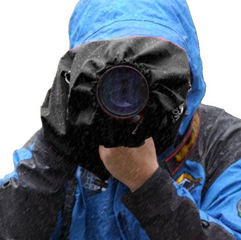 Vortex Media P-SJ-M-B Medium Pro Storm Jacket for SLR in Black P-SJ-M-B