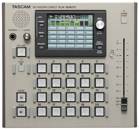 Tascam RC-HS20PD-RST-01 RC-HS20PD [RESTOCK ITEM] Remote Control for HS-8 & HS-2 Recorders RC-HS20PD-RST-01