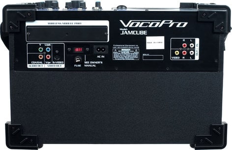 VocoPro JamCube-MC 100 Watt All-In-One Compact PA System with (2) Wired Microphones and CD/MP3 Playback JAMCUBE-MC