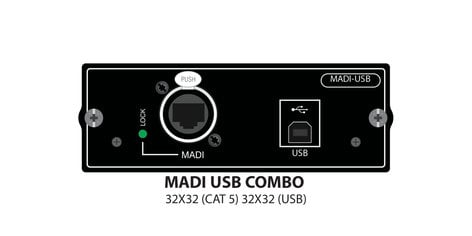 Soundcraft MADI USB Combo Si Series 32x32 Interface Option Card 5046678.V