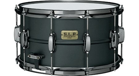 "Tama Big Black Steel 8""x14"" S.L.P. Series Snare Drum LST148"