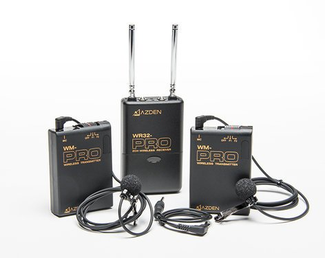 Azden WDL-PRO  PRO Series 2-Channel VHF Wireless Microphone System for DSLR WDL-PRO