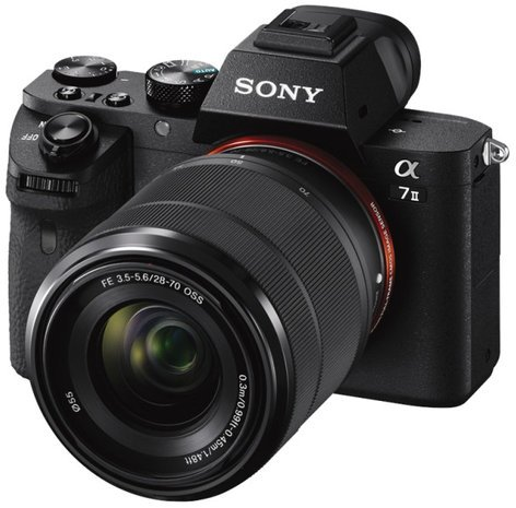 Sony a7 II Full-Frame Mirrorless DSLR Camera with SEL2870 Lens ILCE7M2K/B