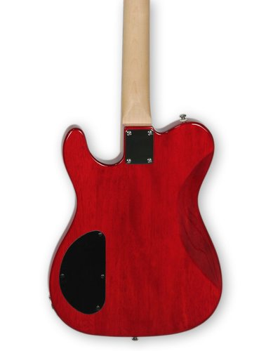 G&L Guitars ASAT-DELUXE-TRD ASAT Deluxe Carved Top Trans Red Tribute Series Electric Guitar ASAT-DELUXE-TRD
