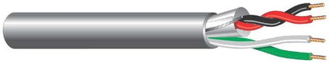 West Penn 356-BY-FOOT 356 [PRICED PER FOOT] 4-Conductor Wire - 2 Shielded , 2 Unshielded 356-BY-FOOT