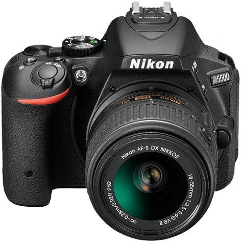 Nikon 1548 24.2MP D5500 DSLR Camera in Black with NIKKOR 18-140mm VR Lens 1548