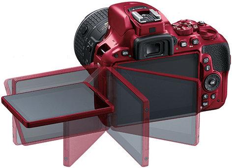 Nikon 1552 24.2MP D5500 DSLR Camera in Red with NIKKOR 18-140mm VR Lens 1552