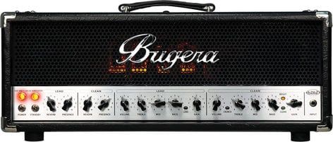 Bugera 6262 INFINIUM 120W 2-Channel Tube Guitar Amplifier Head with Reverb 6262-INFINIUM