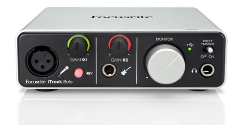 Focusrite iTrack Solo 2x2 USB Audio Interface for Lightning-based iPad and Mac/Windows ITRACK-SOLO-LIGHT