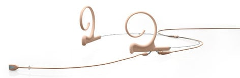 DPA Microphones FIDF34-2 Dual-Ear Directional Headset Microphone with 3.5mm Locking Connector in Beige FIDF34-2