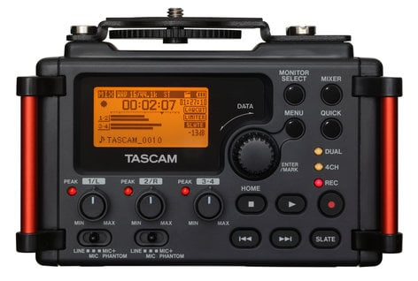 Tascam DR-60DmkII Portable Digital Audio Recorder for DSLR Filmmaking DR-60DMKII