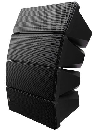 """TOA HX-7B WP 750W Weatherproof Line Array Speaker System in Black with (10) 5"""" Woofers and (4) 1"""" Tweeters HX7B-WP-QAM"""