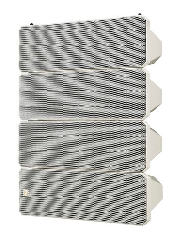 "TOA HX-7W WP 750W Weatherproof Line Array Speaker System in White with (10) 5"" Woofers and (4) 1"" Tweeters HX7W-WP-QAM"