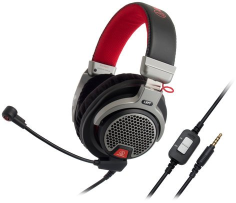 "Audio-Technica ATH-PDG1 Premium Gaming Headset with Flexible 6"" Boom Microphone ATH-PDG1"