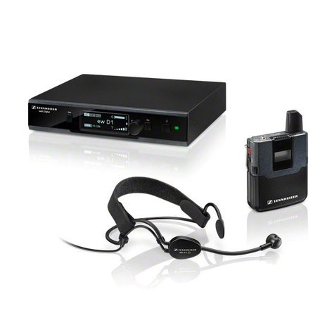 Sennheiser EWD1-ME3 Evolution Wireless D1 Series Digital Bodypack System with ME 3-II Headset Microphone EWD1-ME3