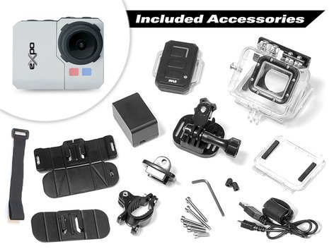 """Pyle Pro PSCHD90 eXpo HD 20MP Action Camera with 2"""" LCD Screen and Wi-Fi Remote PSCHD90"""
