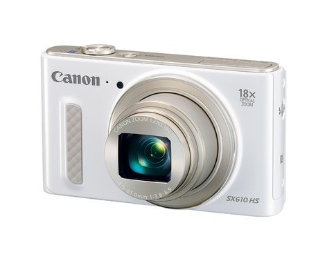 """Canon PowerShot SX610 HS 20.2MP Digital Camera with 18x Optical Zoom and 3"""" LCD Screen, in White POWERSHOT-SX610HS-WH"""