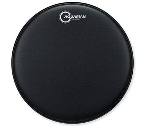 "Aquarian Drumheads HIP13BK 13"" Hi-Impact Snare Drum Batter Head in Black HIP13-BK"