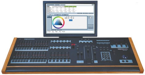 Leprecon XC-350 Monitor 6 Playback, 24-Fader Lighting Console with Touch-Screen Monitor XC-350-MONITOR