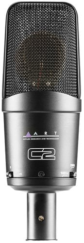 ART C2 Wide Diaphragm Cardioid Condenser Microphone with Pad & High Pass Filter Switches C2-ART