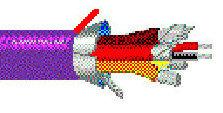 Belden 1800B-1000-VIOLET  1000 ft of 24AWG Single Pair AES/EBU Wire in Violet 1800B-1000-VIOLET