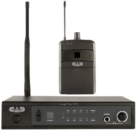 CAD Audio StagePass IEM Stereo Wireless In-Ear Monitor System with Earbuds STAGEPASS-IEM